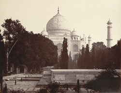 The Taj from the garden, Agra.